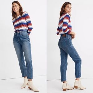 Madewell The Momjean Downey Wash High Rise Jeans